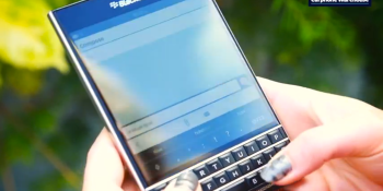 BlackBerry Passport gets physical keyboard that's a touchpad, too