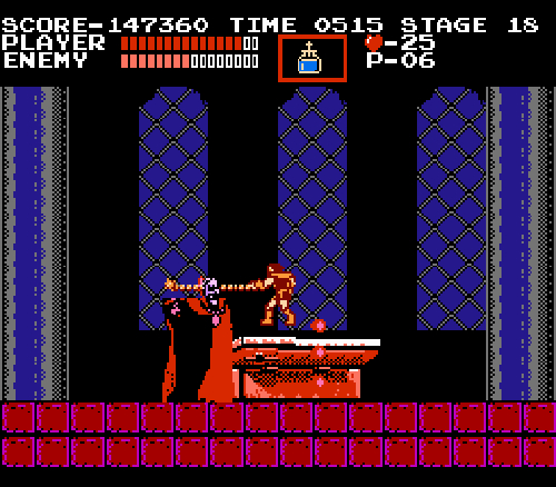 Castlevania NES Dracula boss fight