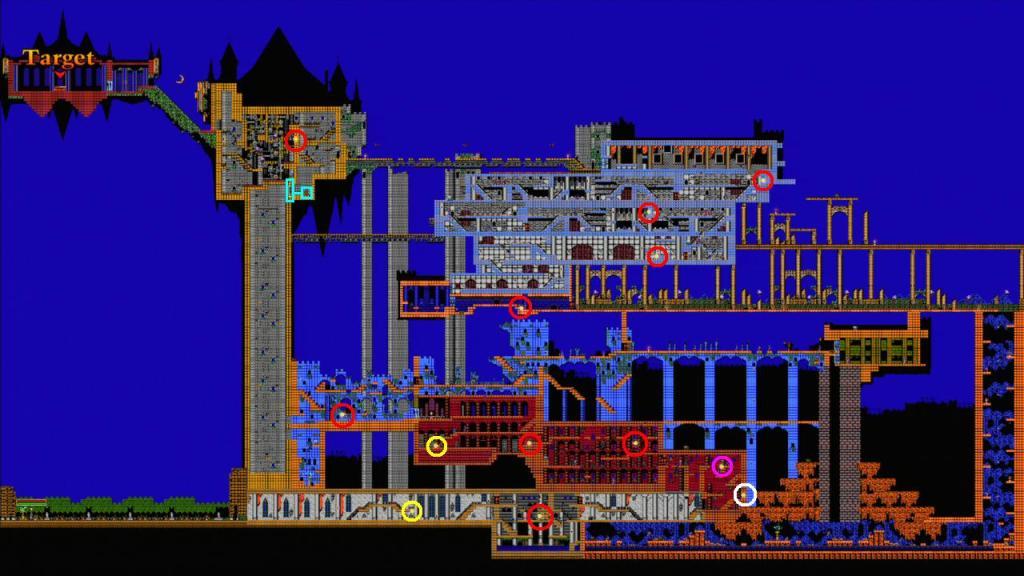 Castlevania world map