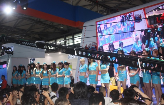Some of the thousands of show girls at ChinaJoy.