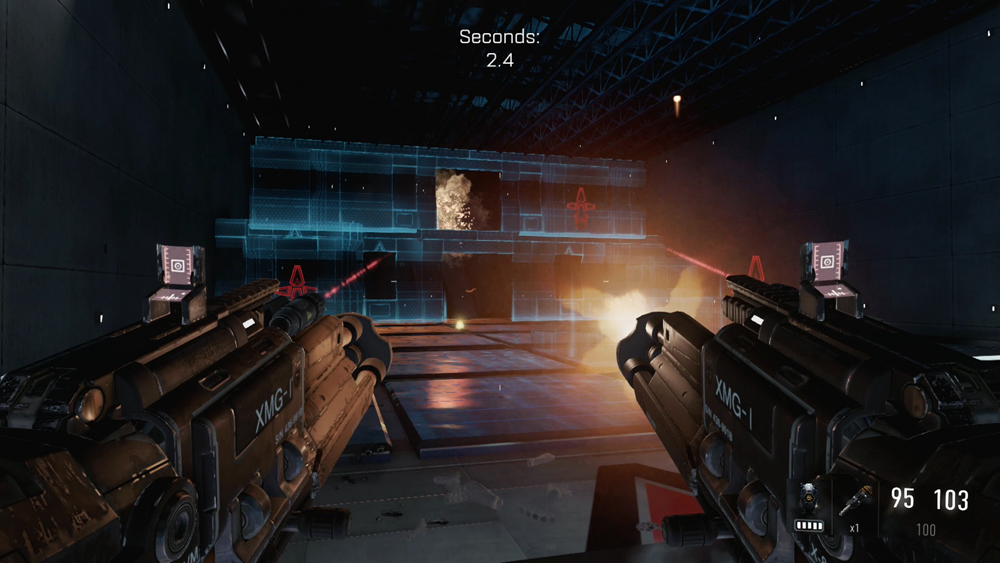 The virtual firing range in Call of Duty: Advanced Warfare allows you to test-drive classes on the fly.