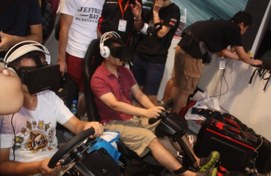 Auto Club Revolution with Oculus VR at ChinaJoy.