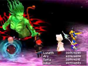 Final Fantasy III Cloud of Darkness boss fight