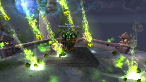 Warlock green fire in Warcraft