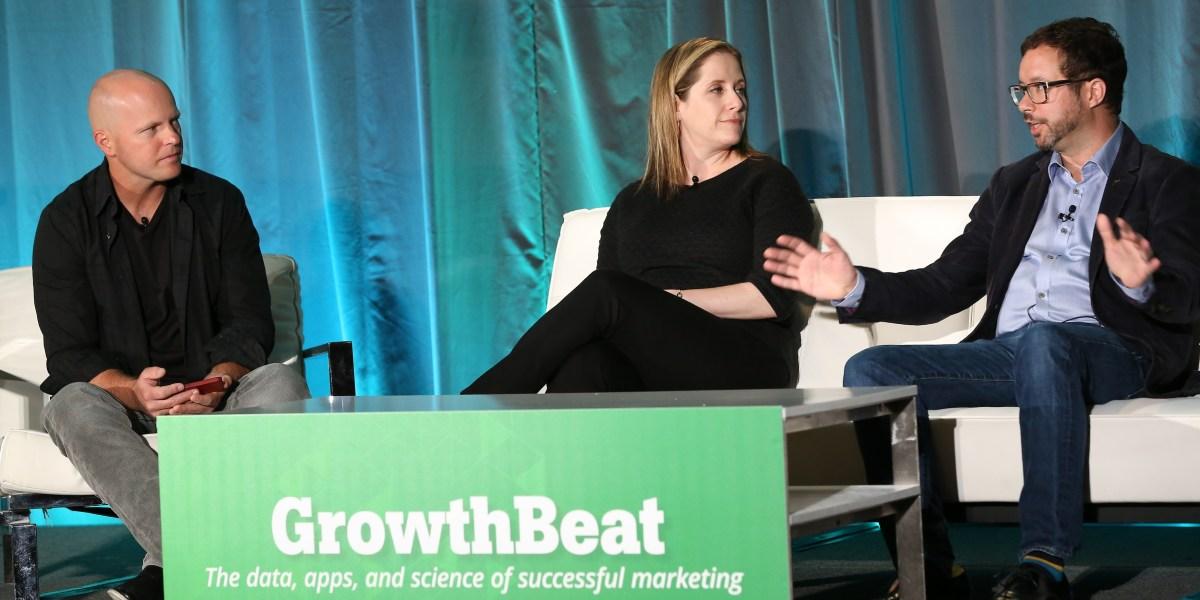 At GrowthBeat 2014: VentureBeat's John Koetsier, TripIt's Elisa Haidt, Salesforce's Gordon Evans