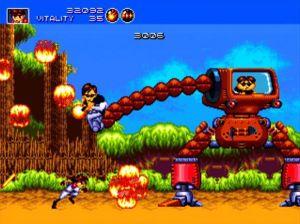Developer Treasure's beloved Genesis shooter Gunstar Heroes.