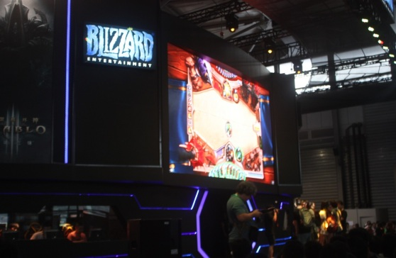 Hearthstone's expansion was on display at ChinaJoy in Shanghai.