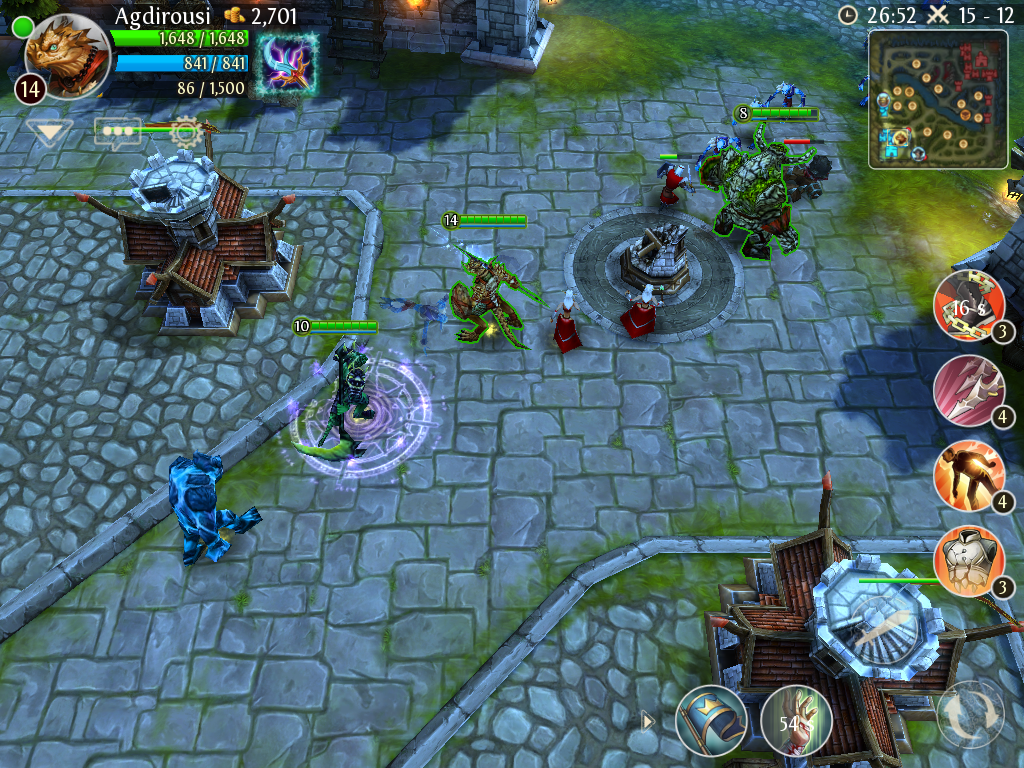 mobile dota 2 like heroes of order chaos gets built in twitch
