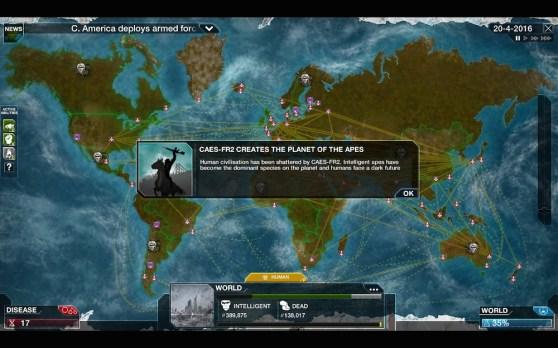 "Plague Inc's ""Simian Flu"" DLC"