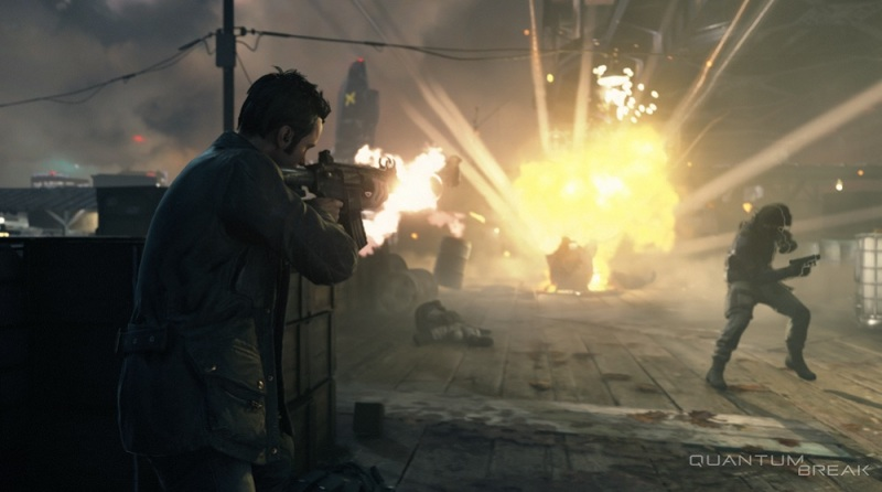 Quantum Break in action.
