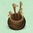 Pot of Spare Staffs