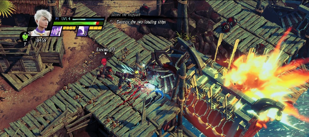 You can smash boats with your swords in Sacred 3, one of the few aspects of its combat that's cool.