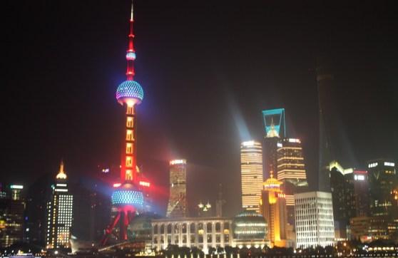 Shanghai skyline during ChinaJoy