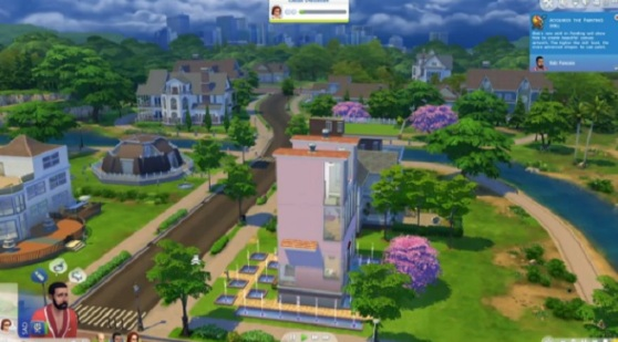 The Sims 4 neighborhood