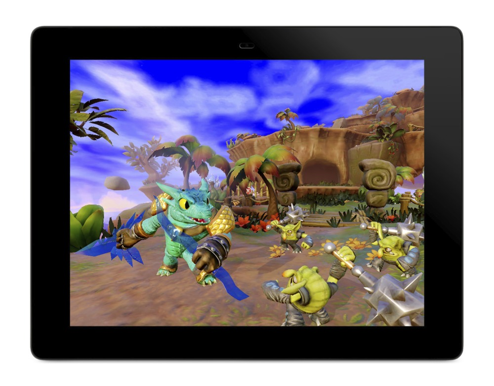 Trap Team's tablet version has every character, mission, and level as its console counterpart.