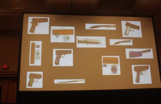 TSA contraband samples