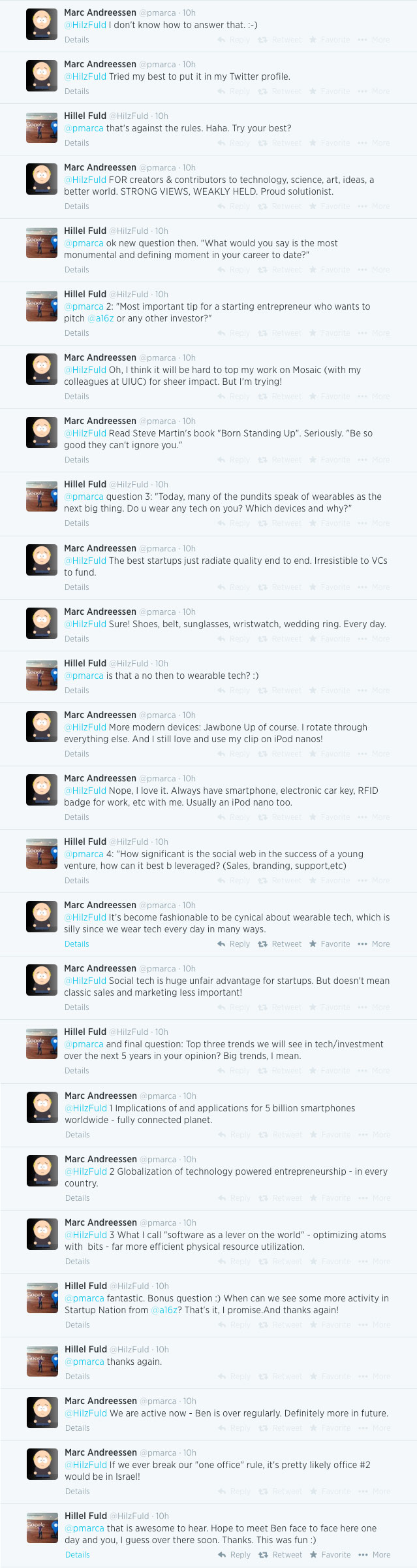 a twitter interview marc andreessen on startups wearables twitter interview andreessen