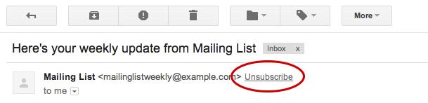 UnsubscribeLink Gmail Google