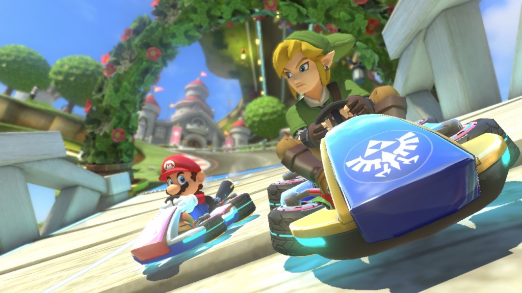 Finally, Mario and Link can determine who is the better racer.