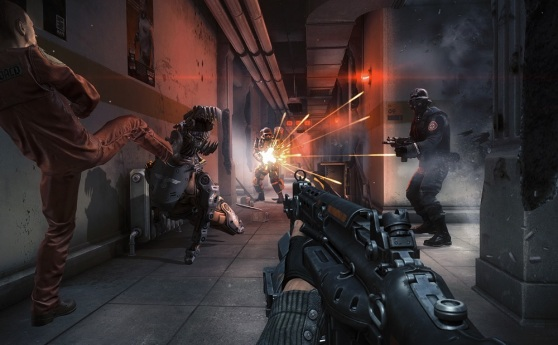 Wolfenstein: The New Order is hard because so many types of enemies attack in a firefight.