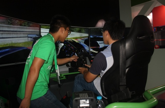 The Xbox One Forza Motorsport demo at ChinaJoy
