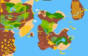 Zelda II overworld map