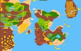 Zelda II overworld map