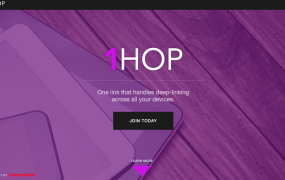Screen for the 1HOP online tool.