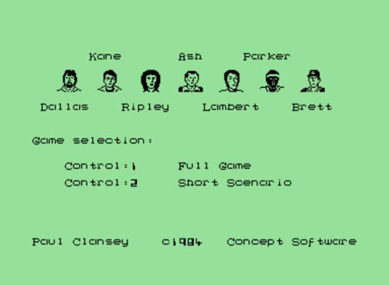 Alien Commodore 64 crew