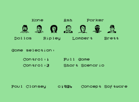 Alien Commodore 64 crew