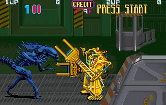 Aliens Arcade Konami loader vs. queen