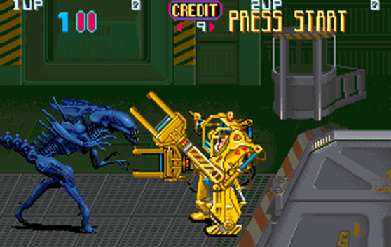 Aliens Arcade Konami loader vs. queen