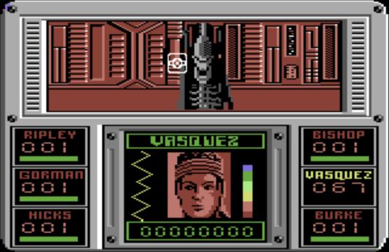 Aliens Commodore 64 Electric Dreams version Vasquez
