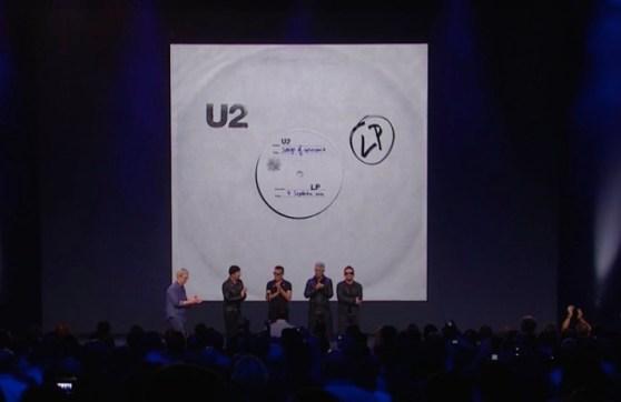 Apple event with U2