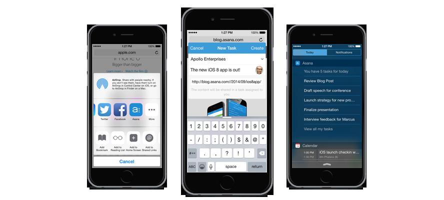 Asana running on iOS 8