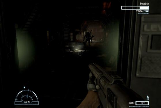 Aliens vs. Predator 2010 dark hallway