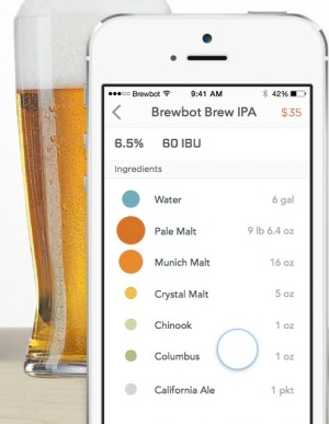 "An early screenshot of the ""DNA"" of a beer created with Brewbot."