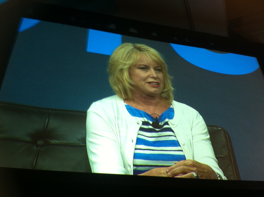 Diane Bryant, senior vice president and general manager of Intel's data center group, speaks at Gigaom Structure in San Francisco on June 18.