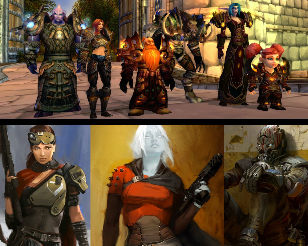 Those are just some of the races in WoW, while Destiny's three choices don't differ much from each other.