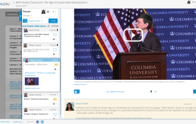 Jeffrey Sachs' course on the Edcast platform