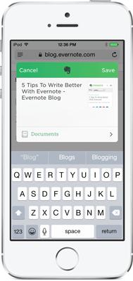 Evernote on iOS 8