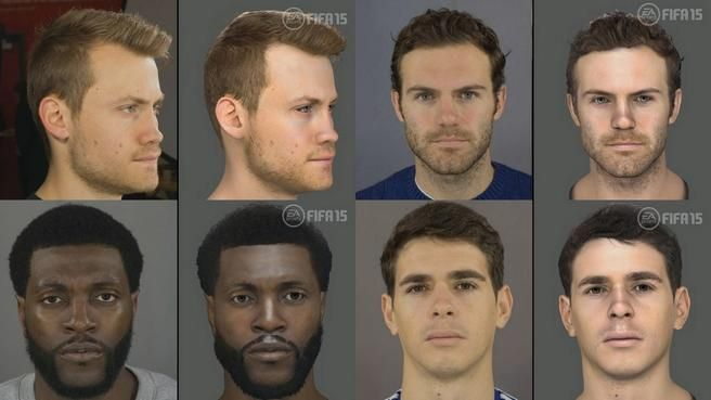 EA Sports scanned many players from the Premier League for FIFA 15.