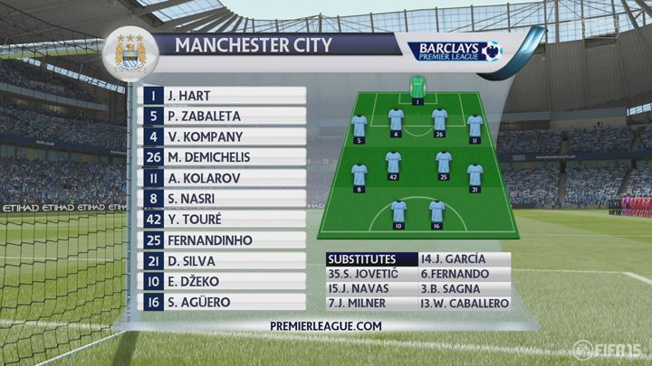 Authentic Premier League overlay graphics add to the presentation.