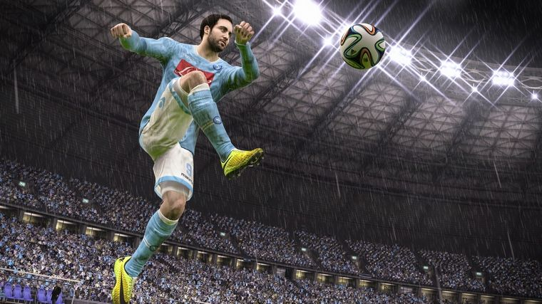 FIFA 15 features the customary graphical upgrades.