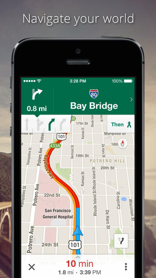 Google Maps on iOS 8