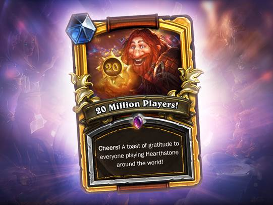 Hearthstone 20M player card