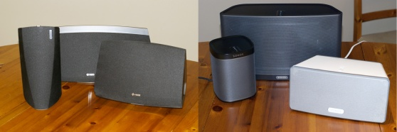 Which looks better (HEOS on the left Vs. Sonos on the right) will come down to taste.