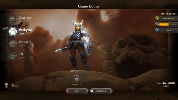 Gauntlet hero select