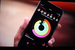 The Apple Watch's fitness apps can be monitored on the iPhone, too.