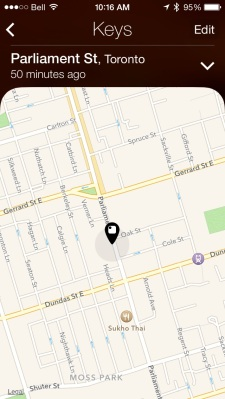 I gave my Tile to my neighbor to take with him to work. My Tile app was able to locate it perfectly.